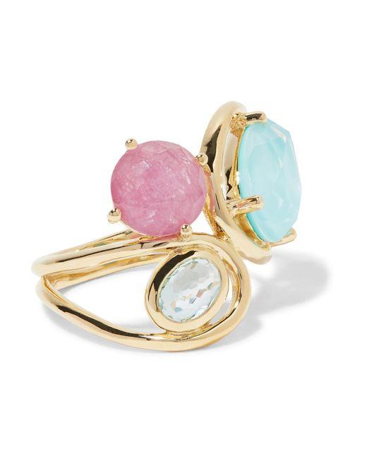 Ippolita | Metallic Rock Candy Squiggle 18-karat Gold Multi-stone Ring | Lyst