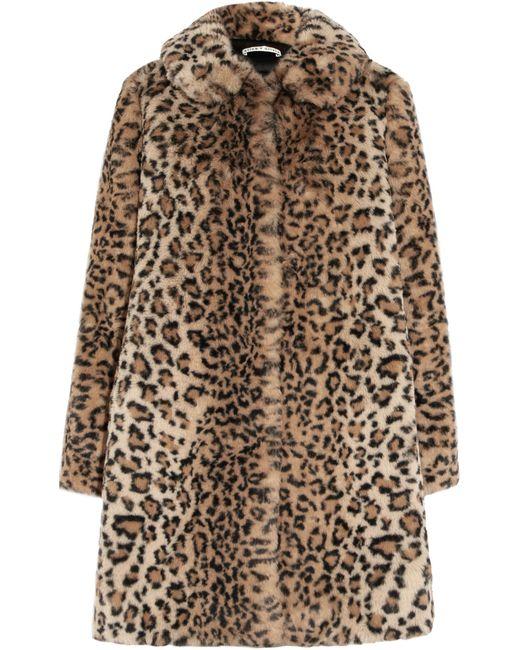 Alice + Olivia - Brown Kinsley Oversized Leopard-print Faux Fur Coat - Lyst