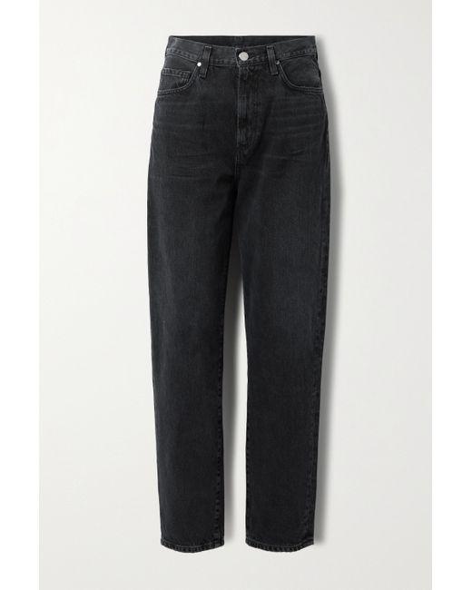 Goldsign Black Net Sustain The Peg High-rise Straight-leg Jeans