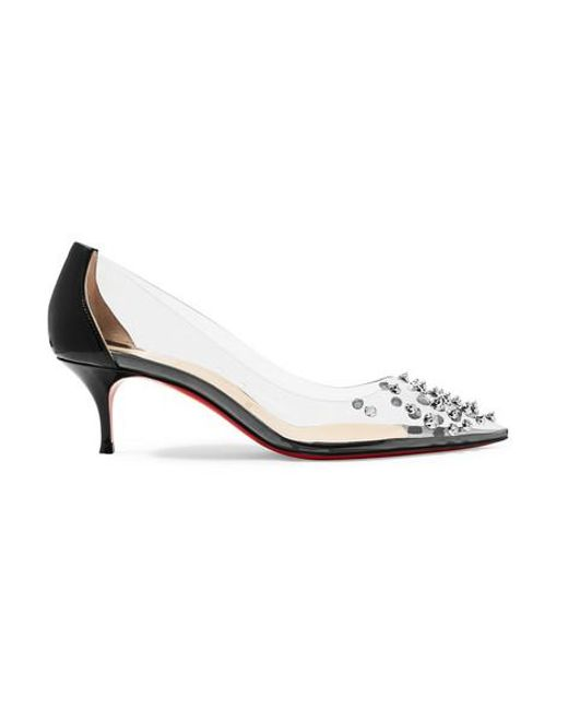 reputable site 2baba 7e670 Women's Black Collaclou 55 Spiked Pvc And Patent-leather Pumps