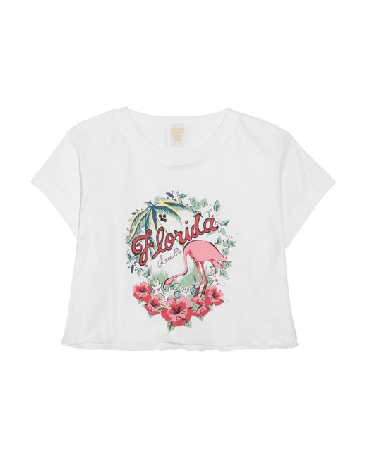 anna sui florida cropped printed cotton jersey t shirt in