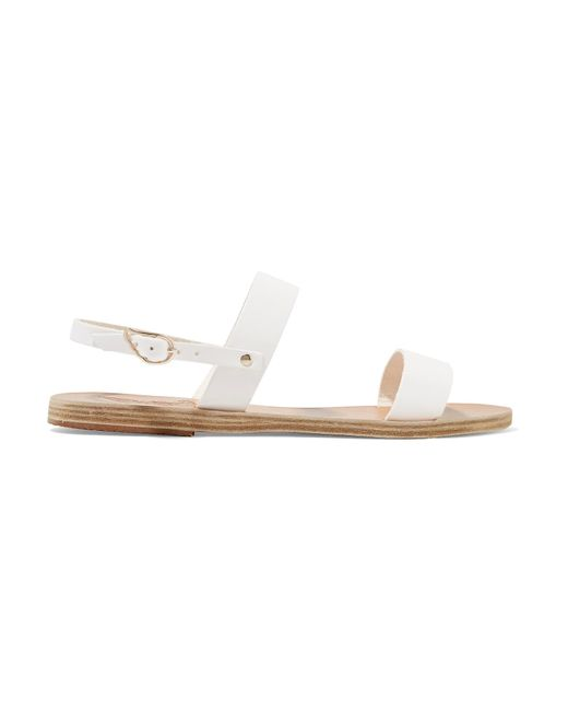 Ancient Greek Sandals | White Clio Leather Sandals | Lyst
