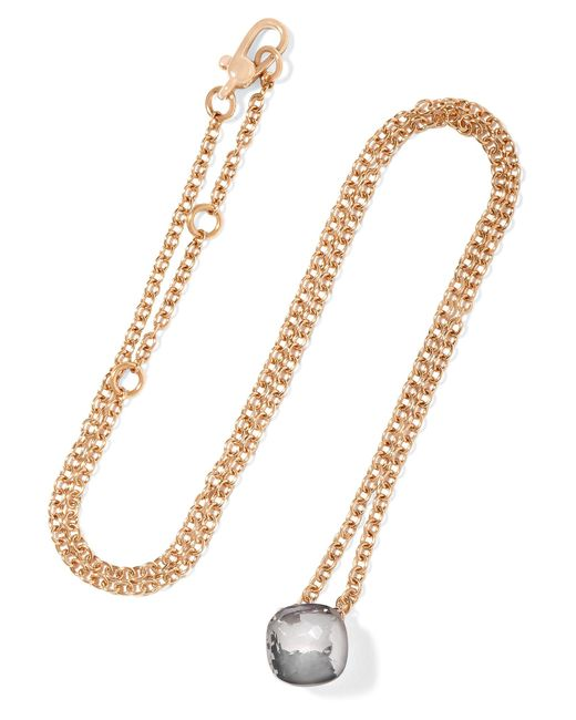 Pomellato | Metallic Nudo 18-karat Rose Gold Topaz Necklace | Lyst