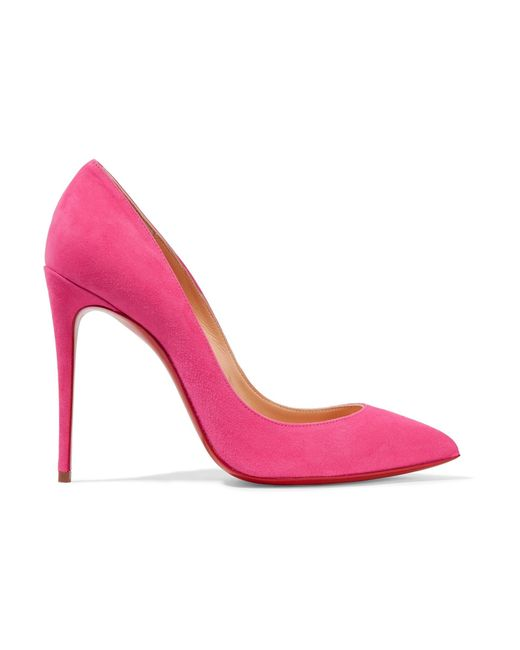 Christian Louboutin   Pink Pigalle Follies 100 Suede Pumps   Lyst