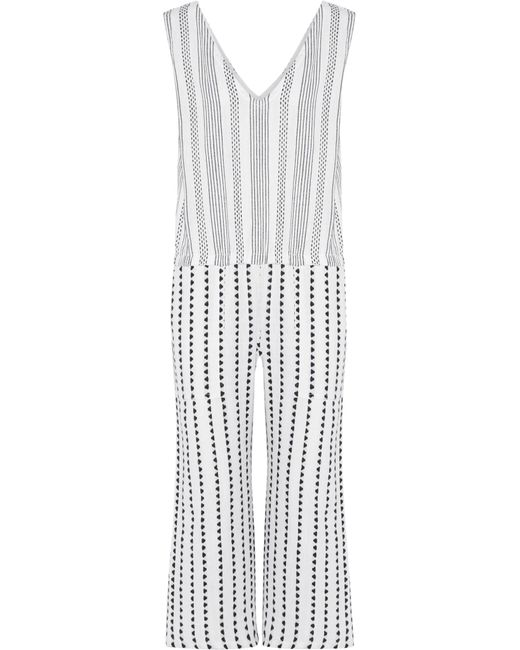 Lemlem | Blue Yeshi Striped Cotton-blend Gauze Jumpsuit | Lyst