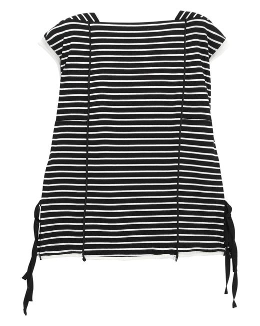 3.1 Phillip Lim   Black Striped Cotton-jersey Top   Lyst