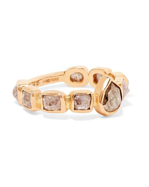 Melissa Joy Manning | Metallic 18-karat Rose Gold Diamond Ring | Lyst