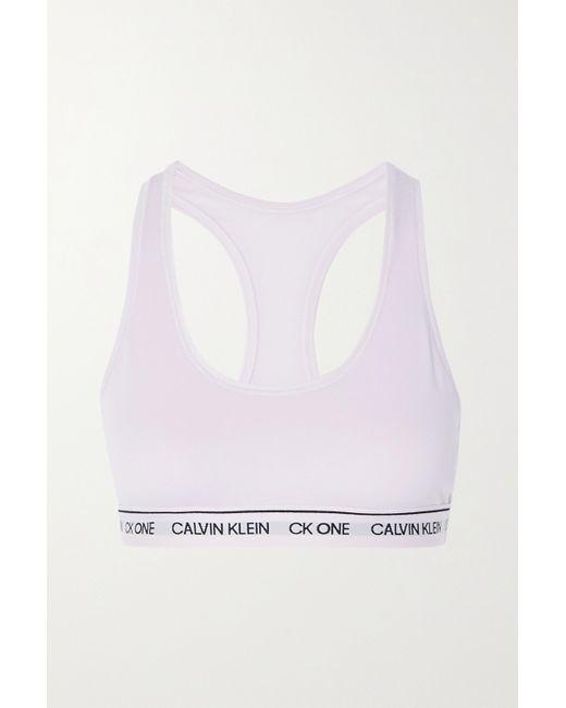 Calvin Klein Pink Ck One Soft-bh Aus Recyceltem Stretch-jersey
