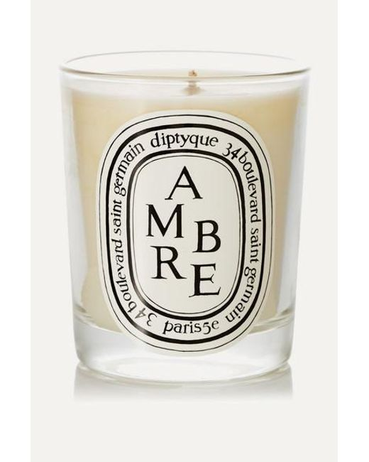 Diptyque Multicolor Ambre Scented Candle, 190g
