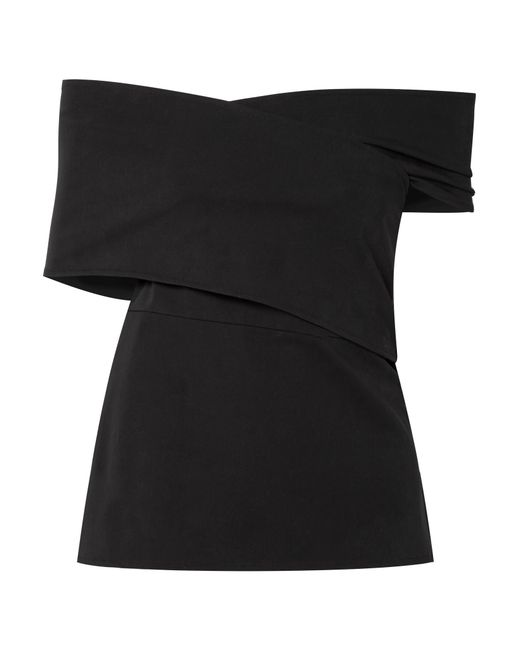 Beaufille | Black Hercules Off-the-shoulder Stretch-cotton Top | Lyst