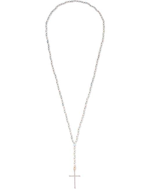 Diane Kordas - Metallic 18-karat Rose Gold, Diamond And Aquamarine Necklace Rose Gold One Size - Lyst