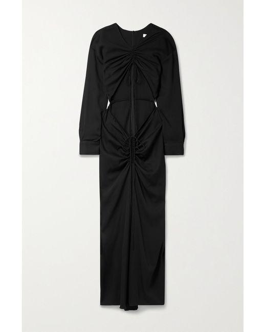 Christopher Esber Black Ruched Cutout Stretch-jersey Maxi Dress
