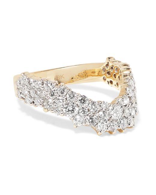 Ana Khouri - Metallic Simplicity 18-karat Gold Diamond Ring - Lyst