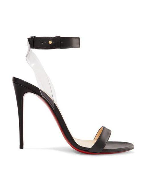 info for e6191 aedae Women's Black Jonatina 100mm Leather Sandals