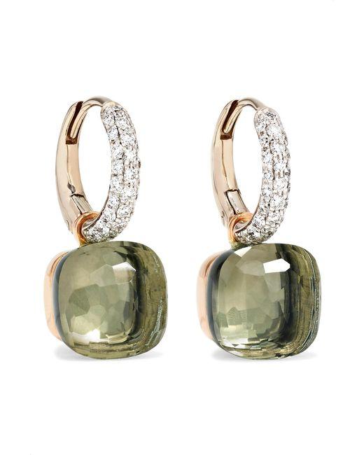 Pomellato - Metallic Nudo 18-karat White Gold, Prasiolite And Diamond Earrings - Lyst