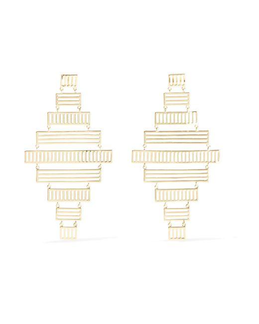 Arme De L'Amour | Metallic Stripe Gold-plated Earrings | Lyst