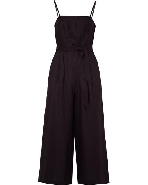 J.Crew - Black Marseille Belted Linen Jumpsuit - Lyst