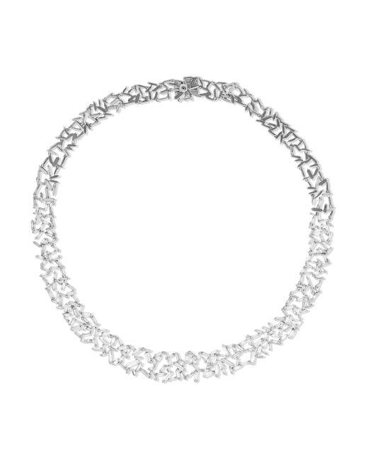 Suzanne Kalan | Metallic 18-karat White Gold Diamond Necklace | Lyst
