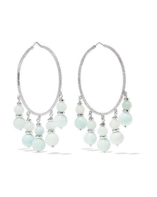 Carolina Bucci   Metallic Recharmed 18-karat White Gold Amazonite Hoop Earrings   Lyst