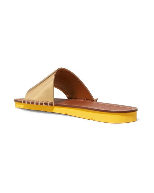 buy cheap sast Prada Metallic Leather Slide Cheapest sale online discount newest low cost for sale clearance largest supplier mgCYe0