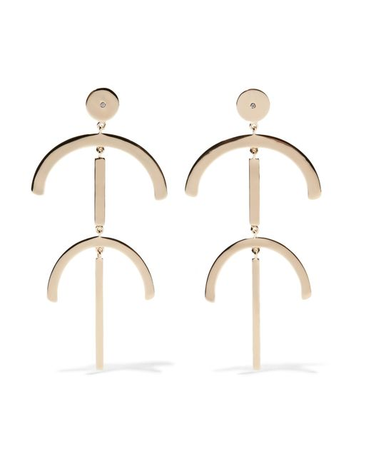 Elizabeth and James | Metallic Lulu Gold-plated Topaz Earrings | Lyst
