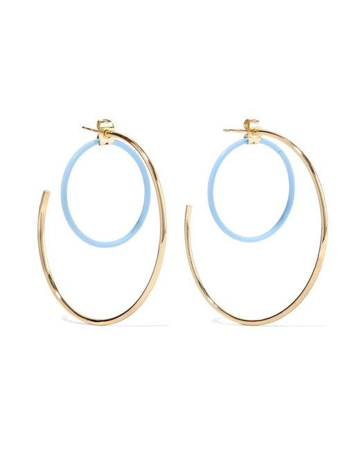 Elizabeth and James   Metallic Renee Gold-plated Acetate Hoop Earrings   Lyst
