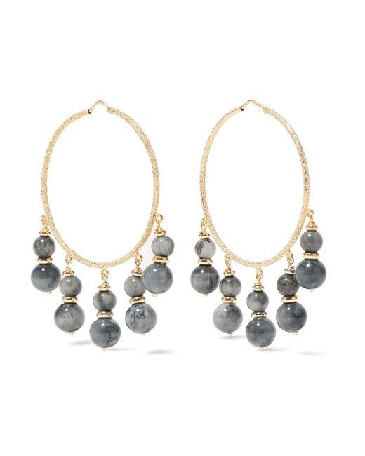 Carolina Bucci | Metallic Recharmed 18-karat Gold Agate Hoop Earrings | Lyst