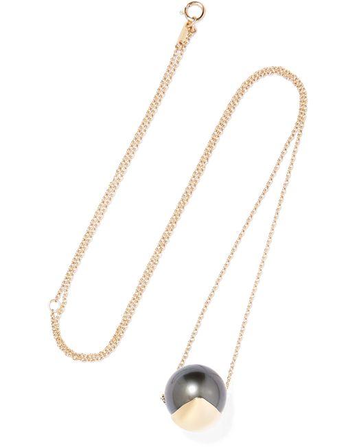 Mizuki   Metallic 14-karat Gold Pearl Necklace   Lyst