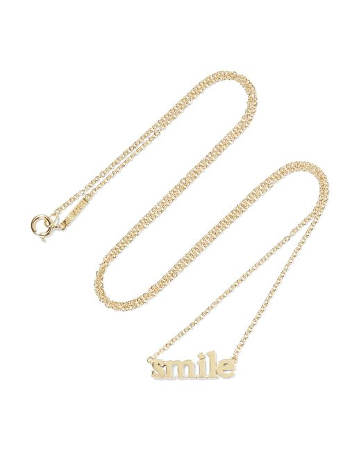Jennifer Meyer | Metallic Smile 18-karat Gold Necklace | Lyst