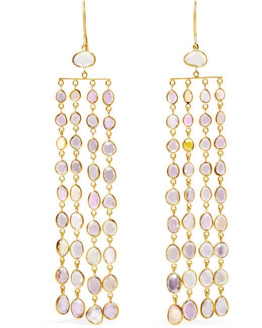 Pippa Small | Metallic 18-karat Gold Sapphire Earrings | Lyst