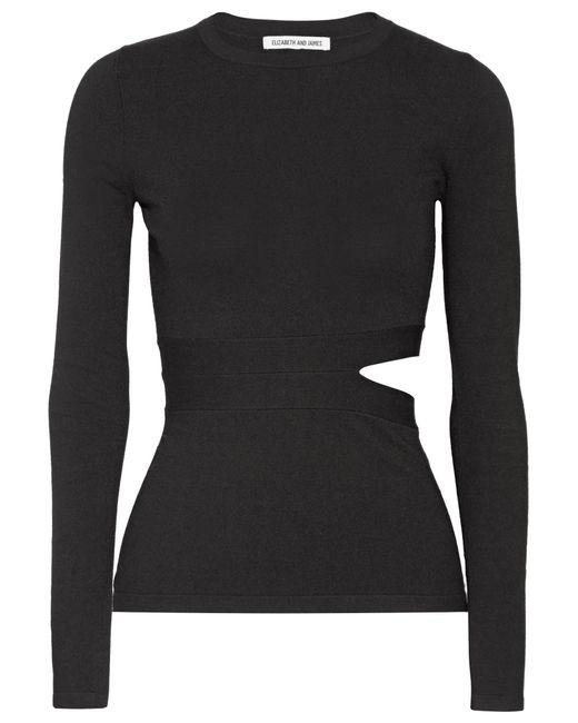 Elizabeth and James | Black Kelton Cutout Stretch-knit Top | Lyst