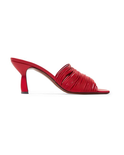 Neous - Red Shom 70 Multi Strap Leather Mules - Lyst