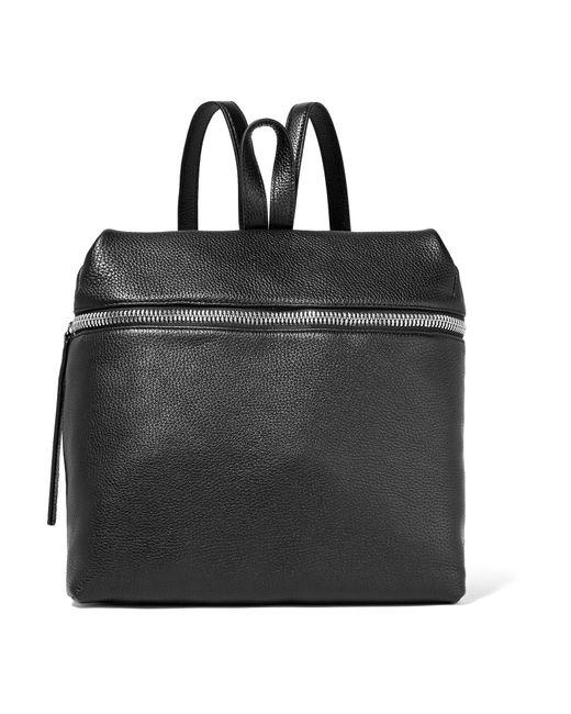 Kara - Black Large Textured-leather Backpack - Lyst