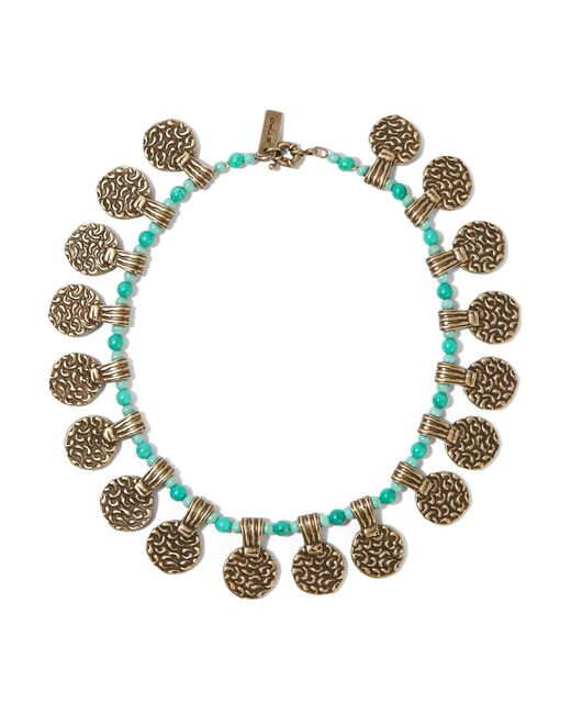 Etro   Metallic Gold-tone Beaded Necklace   Lyst