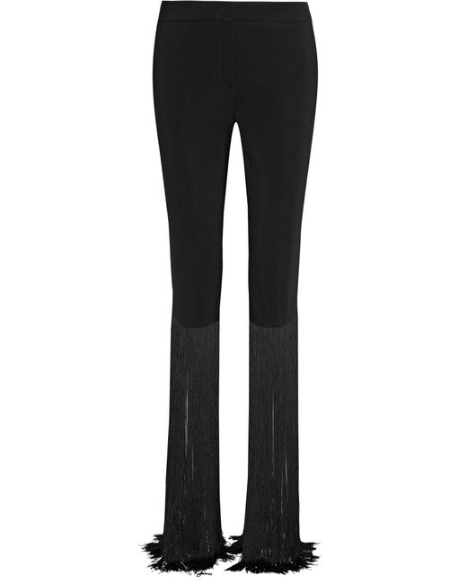 Emilio Pucci | Black Fringed Cady Straight-leg Pants | Lyst