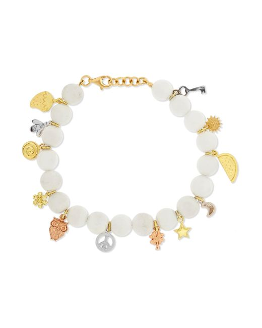 Carolina Bucci   Metallic Recharmed Lucky 18-karat Yellow, Rose And White Gold And Agate Bracelet   Lyst