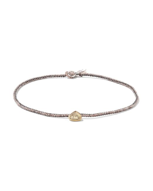 Brooke Gregson | Metallic Orbit 14-karat Gold, Sterling Silver And Diamond Choker | Lyst