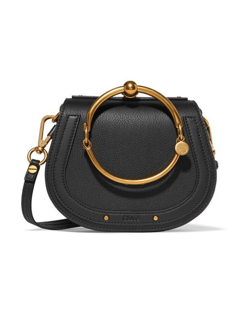 Chloé   Black Nile Bracelet Small Textured-leather Shoulder Bag   Lyst