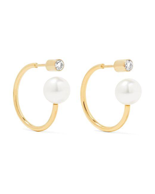 Sophie Bille Brahe   Metallic Boucle 14-karat Gold, Pearl And Diamond Earrings   Lyst