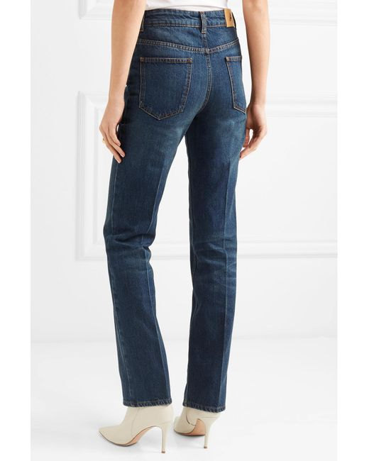 Alexa Chung Woman Faded Mid-rise Straight-leg Jeans Mid Denim Size 24 AlexaChung lfRHz