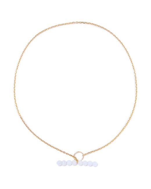 Saskia Diez | Metallic Moon Barbelle Gold-plated Chalcedony Choker | Lyst