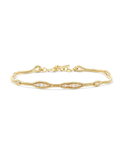Fernando Jorge - Metallic Fluid 18-karat Gold Diamond Bracelet - Lyst