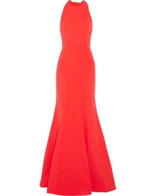 Rebecca Vallance | Red Bow Breakers Open-back Crepe Gown | Lyst