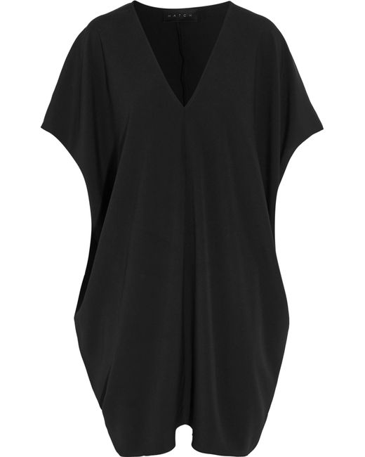 HATCH | Black Slouch Crepe Dress | Lyst