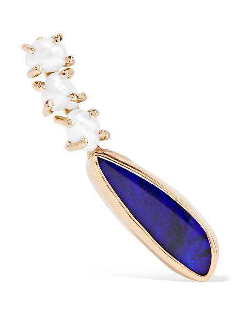 Melissa Joy Manning - Metallic 14-karat Gold, Pearl And Opal Earring - Lyst