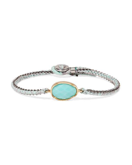 Brooke Gregson - Metallic Orbit 14-karat Gold, Sterling Silver And Turquoise Bracelet Gold One Size - Lyst