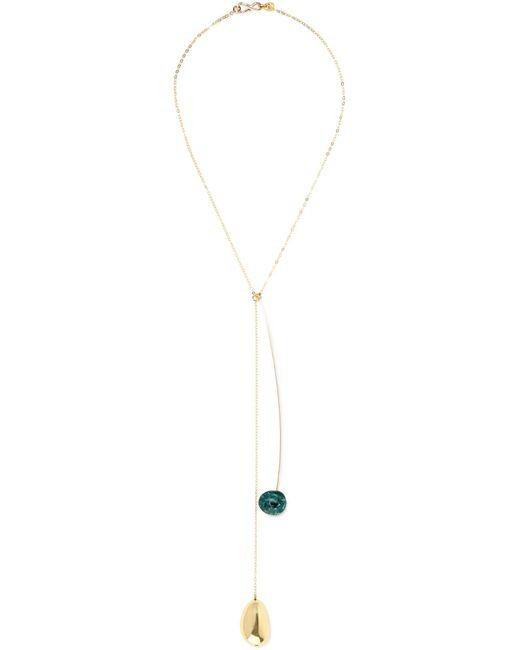 Dinosaur Designs | Metallic Pebble 2 Gold-filled Resin Necklace | Lyst
