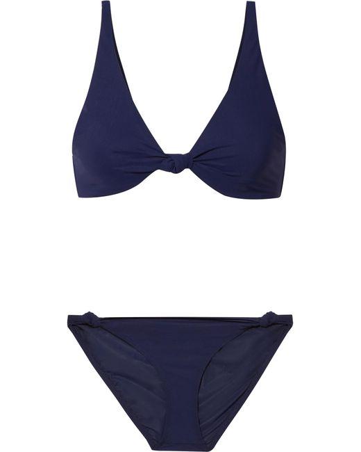 Tory Burch - Blue Knotted Triangle Bikini - Lyst