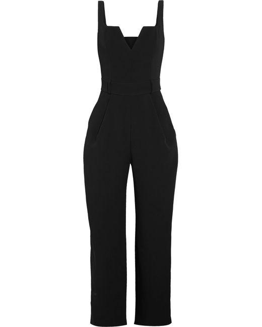 Carmen March - Black Crepe Jumpsuit - Lyst
