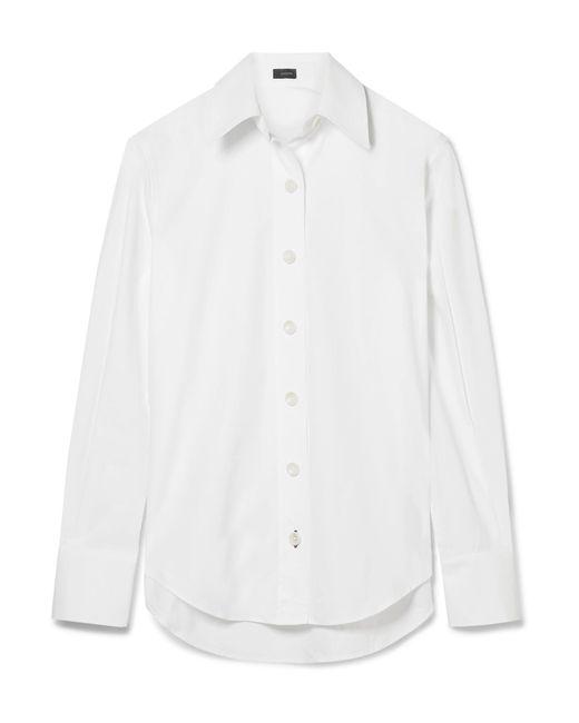 Joseph   White Garcon Cotton-poplin Shirt   Lyst